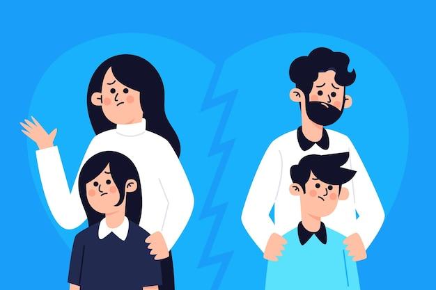 Concept de divorce avec enfants