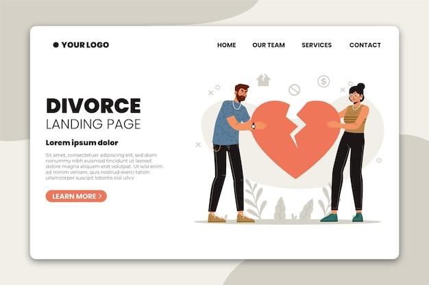 Concept de divorce - page de destination