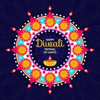 Concept de diwali au design plat