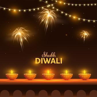 Concept de diwali heureux