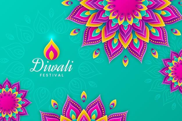 Concept de diwali en style papier