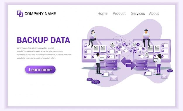 Concept de données de sauvegarde avec des caractères