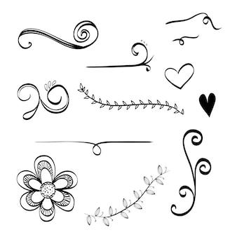 Concept de doodle avec le design d'icône
