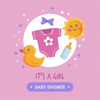 Concept de douche de bébé fille