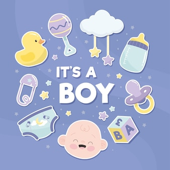 Concept de douche de bébé garçon