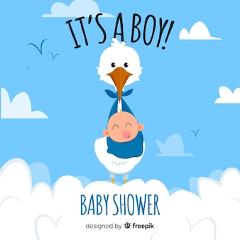 Concept de douche de bébé mignon