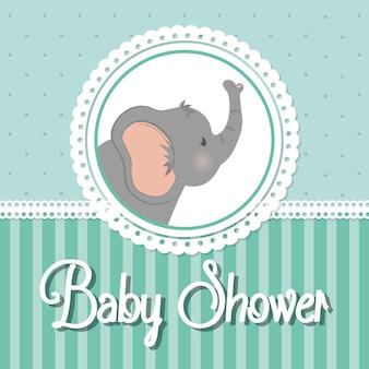 Concept de douche de bébé représenté par l'icône de l'éléphant