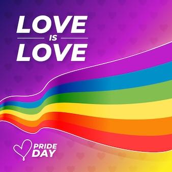 Concept de drapeau de jour de fierté coloré