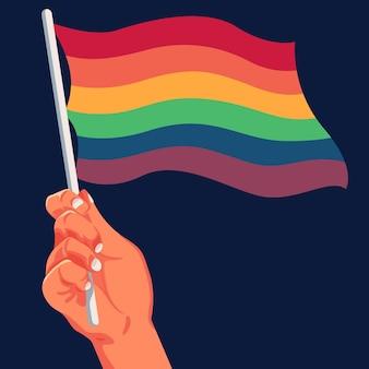 Concept de drapeau de jour de fierté