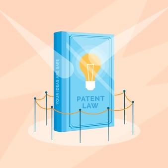 Concept de droit des brevets design plat