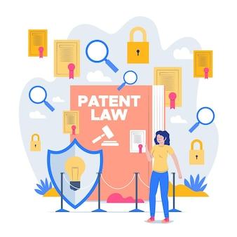 Concept de droit des brevets illustré