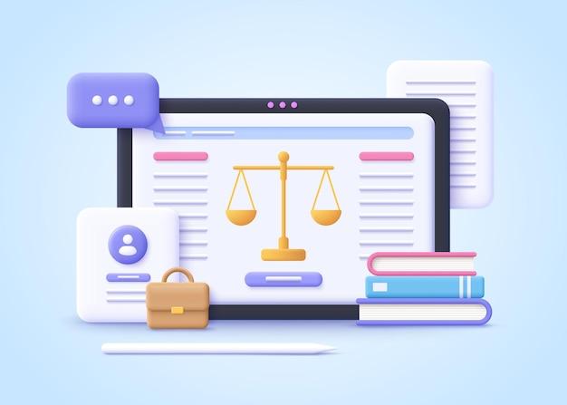 Concept de droit jugement de punition d'avocat professionnel