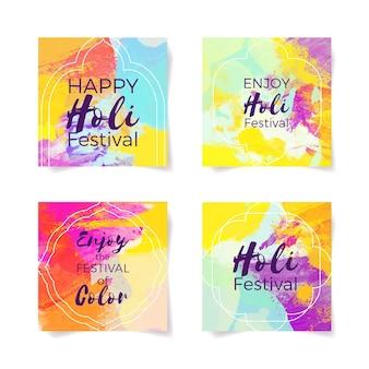 Concept du festival holi pour les messages instagram