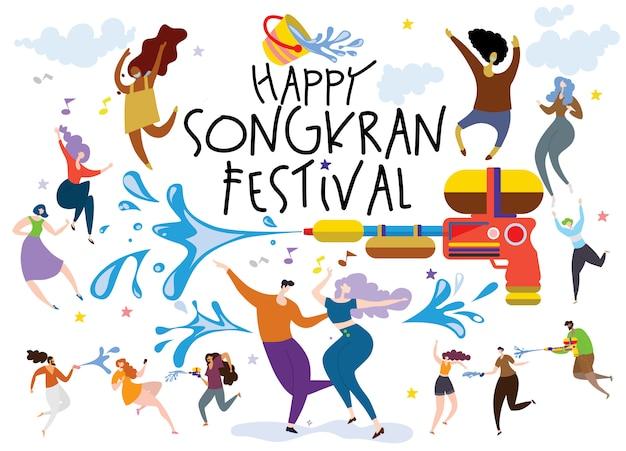 Concept du festival songkran