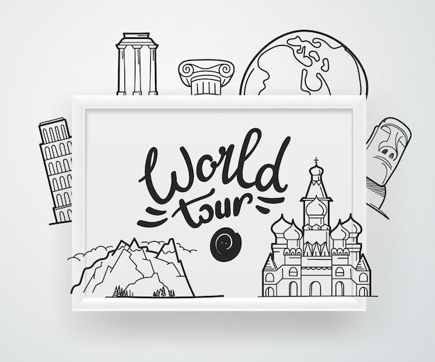 Concept du tour du monde,