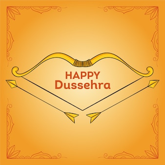 Concept de dussehra dessiné à la main
