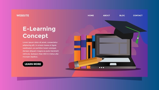 Concept e-learning.