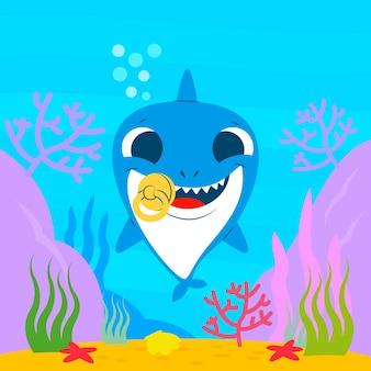 Concept d'eau bébé requin