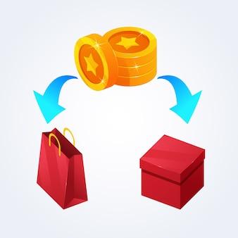 Concept d'échange de points détaillé