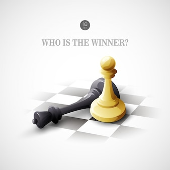 Concept d'échecs gagnant. contexte