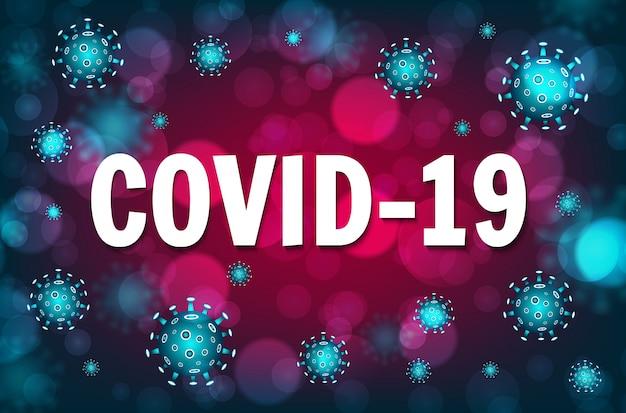 Concept d'éclosion de coronavirus covid-19. danger de coronavirus et risque pour la santé publique et épidémie de grippe. concept médical pandémique avec des cellules dangereuses. illustration vectorielle