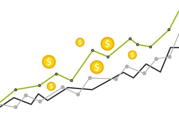 Concept d'économie de fonds de croissance