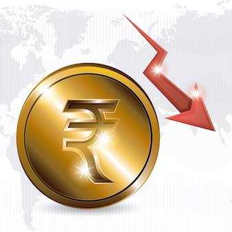 Concept de l'économie mondiale avec des icônes de l'argent