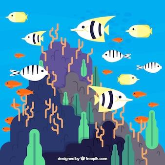 Concept d'écosystème avec océan