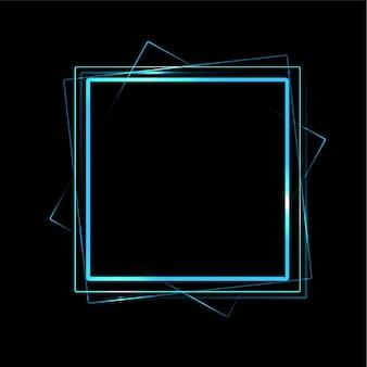 Concept d'écran au néon. illustration vectorielle de lumière laser annonce futuriste