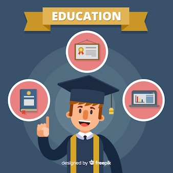 Concept de l'éducation belle avec un design plat