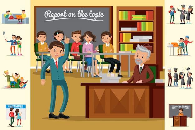 Concept d'éducation coloré
