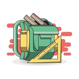 Concept d'éducation colorfull sac à dos scolaire