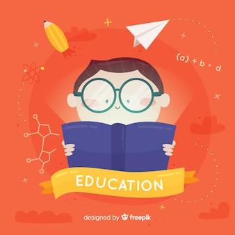 Concept d'éducation dessiné main belle