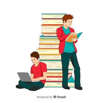 Concept d'éducation dessiné main coloré