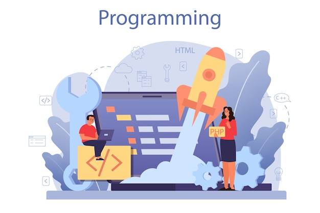 Concept d'éducation informatique.