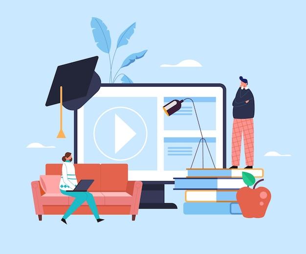 Concept d'éducation internet en ligne.