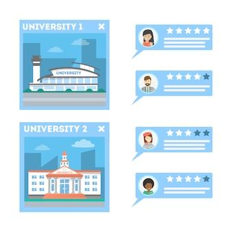 Concept d'éducation en ligne. main en poussant appliquer maintenant