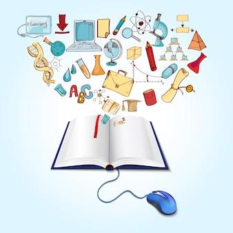 Concept De L'éducation En Ligne Vecteur gratuit