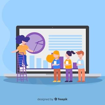 Concept d'éducation en ligne