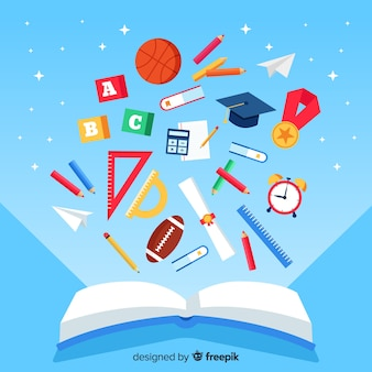 Concept d'éducation moderne avec un design plat
