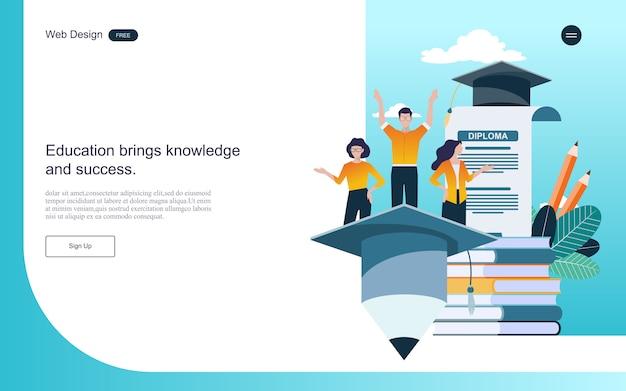 Concept d'éducation pour l'apprentissage, la formation et les cours en ligne.