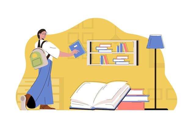 Concept d'éducation spéciale étudiante apprend au programme universitaire ou collégial