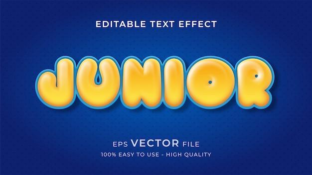 Concept d'effet de texte éditable ballon enfant