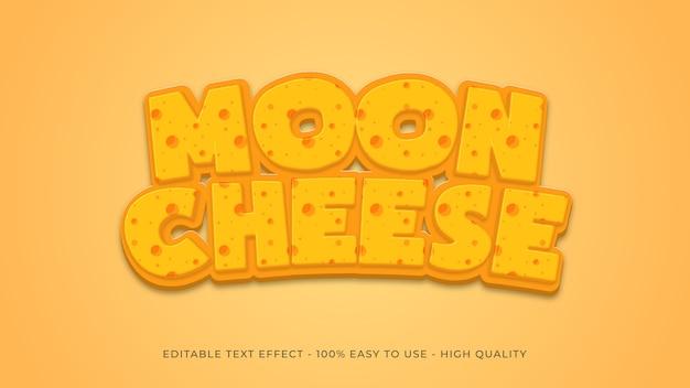 Concept d'effet de texte de fromage