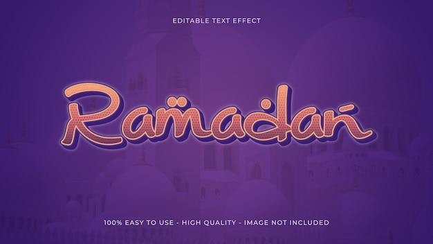 Concept d'effet de texte ramadan