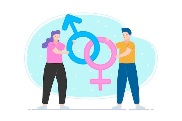 Concept d'égalité des sexes