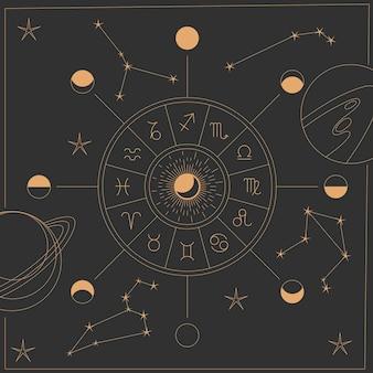 Concept d'éléments mystiques ésotériques