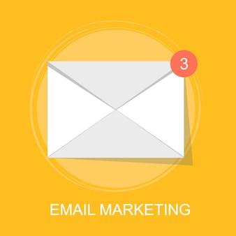 Le concept de l'email marketing et de la communication avec la publicité numérique
