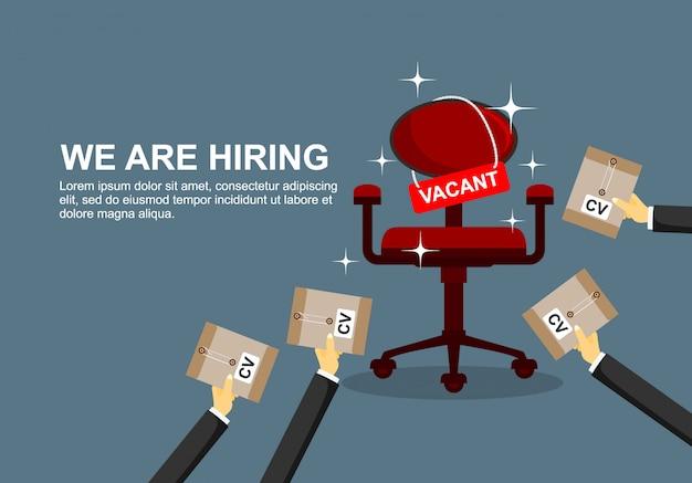 Concept d'embauche et de recrutement d'entreprise.