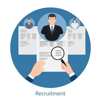 Concept d'embauche et de ressources humaines